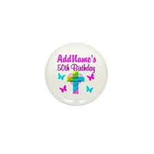 DELIGHTFUL 50TH Mini Button (10 pack)