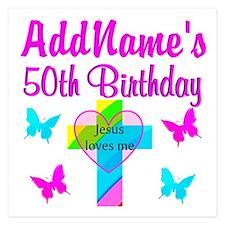 DELIGHTFUL 50TH Invitations