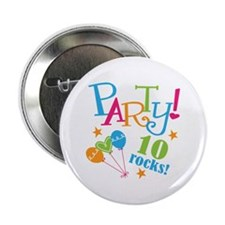 """10th Birthday Party 2.25"""" Button (10 pack)"""