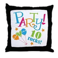 10th Birthday Party Throw Pillow