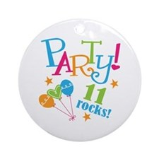 11th Birthday Party Ornament (Round)
