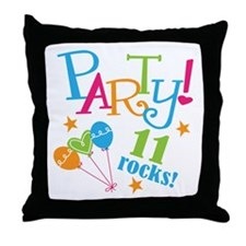 11th Birthday Party Throw Pillow