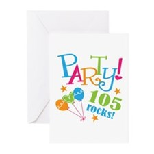 105th Birthday Party Greeting Cards (Pk of 20)