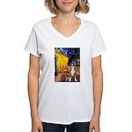 Cafe & Boxer Women's V-Neck T-Shirt