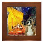 Cafe & Boxer Framed Tile