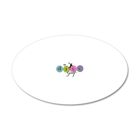 Disc Golf Classic Launch 20x12 Oval Wall Decal
