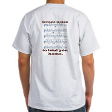Grace front and back Ash Grey T-Shirt