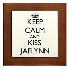 Keep Calm and kiss Jaelynn Framed Tile