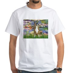 Boxer (1) in Monet's Lilies White T-Shirt