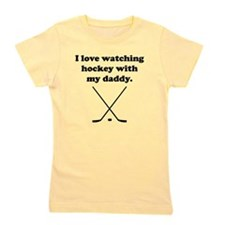I Love Watching Hockey With My Daddy Girl's Tee