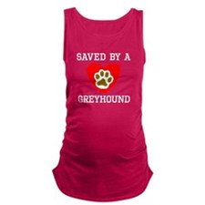 Saved By A Greyhound Maternity Tank Top