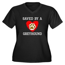 Saved By A Greyhound Plus Size T-Shirt