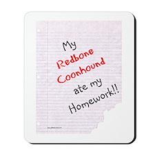 Coonhound Homework Mousepad