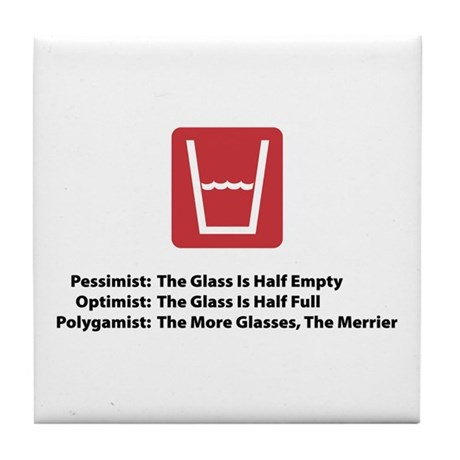 Polygamist Glass Tile Coaster