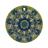 Cannabis Kaleidoscope II Ornament (Round)