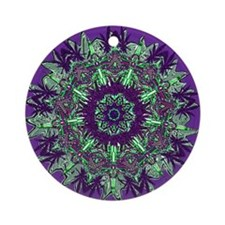Cannabis Kaleidoscope Series Ornament (Round)