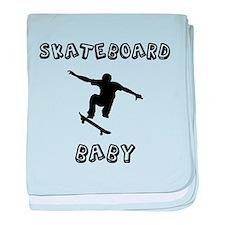Skateboard Baby baby blanket