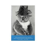 &quot;Vintage Postcards&quot; Book Koala Rectangle Magnet