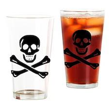 Black Sam Bellamy Jolly Roger:Pirat Drinking Glass