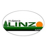 It's Better in Linz, Austria Oval Decal