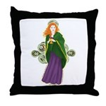 Grail Maiden Throw Pillow
