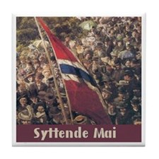 The Syttende Mai Store Tile Coaster