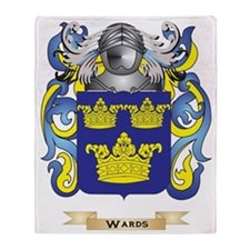 Wards Family Crest (Coat of Arms) Throw Blanket
