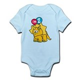 """I'm 2"" Dinosaur Infant Bodysuit"