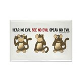 Hear No Evil... Rectangle Magnet (100 pack)