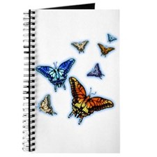 Butterflies in flight right (transparent) Journal