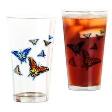 Butterflies in flight right (transparent) Drinking