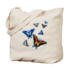 Butterflies in flight right (transparent) Tote Bag