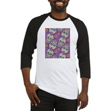 Day of The Dead Sugar Skull Purple Baseball Jersey