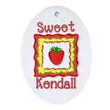 Sweet Kendall Oval Ornament