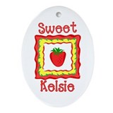 Sweet Kelsie Oval Ornament