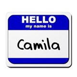 hello my name is camila  Mousepad