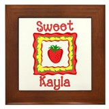 Sweet Kayla Framed Tile