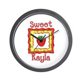 Sweet Kayla Wall Clock