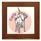 Kayla Unicorn Framed Tile