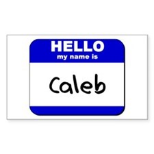 hello my name is caleb Rectangle Decal