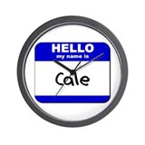hello my name is cale  Wall Clock