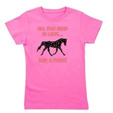 Love And A Pony Girl's Tee