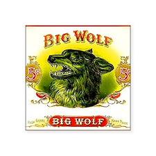 "Big Wolf Square Sticker 3"" x 3"""