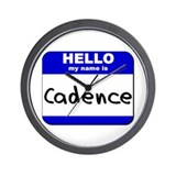 hello my name is cadence  Wall Clock