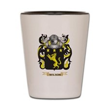 Wilson England Family Crest (Coat of Ar Shot Glass