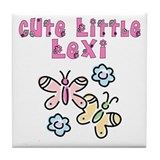 Cute Little Lexi Tile Coaster