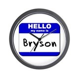 hello my name is bryson  Wall Clock