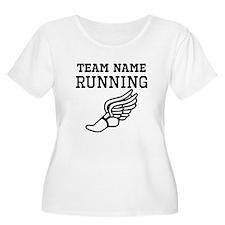 (Team Name) Running Plus Size T-Shirt