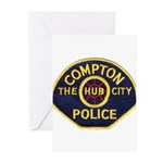 Compton CA Police Greeting Cards (Pk of 20)
