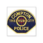 Compton CA Police Square Sticker 3